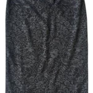 Anthropologie Skirts - Anthropologie Bordeaux Black Lace Burnout skirt xs